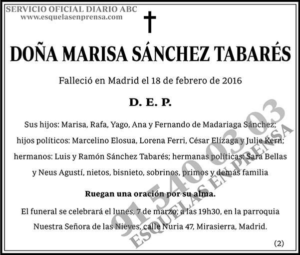 Marisa Sánchez Tabarés